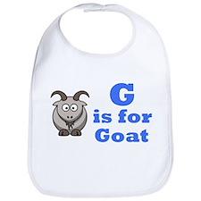 G is for Goat Blue - Bib