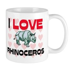I Love Rhinoceros Mug