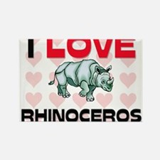 I Love Rhinoceros Rectangle Magnet
