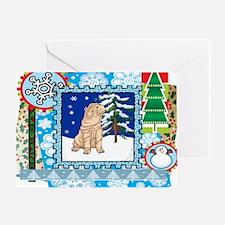 Scrapbook Shar Pei Christmas Greeting Card