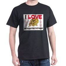 I Love Reticulated Pythons T-Shirt