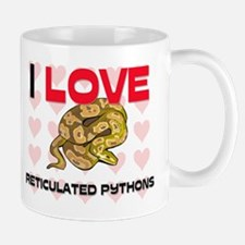 I Love Reticulated Pythons Mug