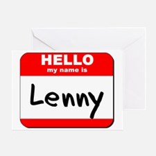 Hello my name is Lenny Greeting Card