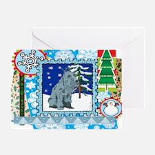 Scrapbook Schnauzer Christmas Greeting Card