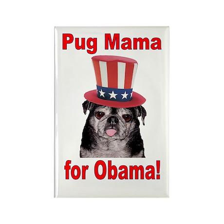 Obama Pug Mama Rectangle Magnet