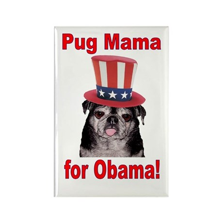 Obama Pug Mama Rectangle Magnet (100 pack)