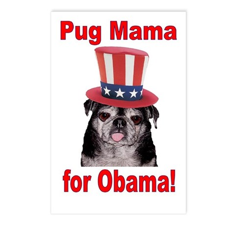 Obama Pug Mama Postcards (Package of 8)