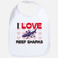 I Love Reef Sharks Bib