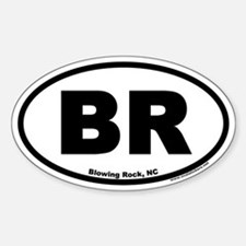 Blowing Rock NC Euro Oval Decal