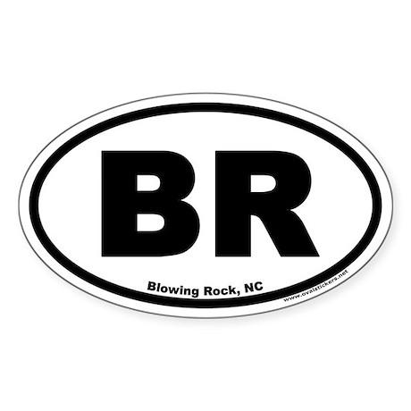 Blowing Rock NC Euro Oval Sticker