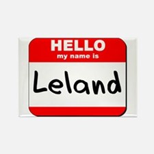 Hello my name is Leland Rectangle Magnet