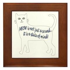 Meow State of Mind Framed Tile