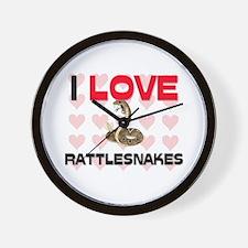 I Love Rattlesnakes Wall Clock