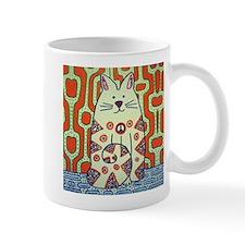 Peace Cat Original Funky Art Mug