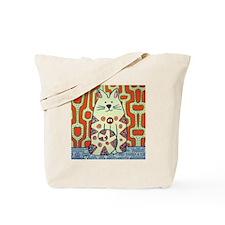Peace Cat Original Funky Art Tote Bag