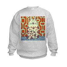 Peace Cat Original Funky Art Sweatshirt