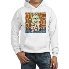Peace Cat Original Funky Art Hoodie