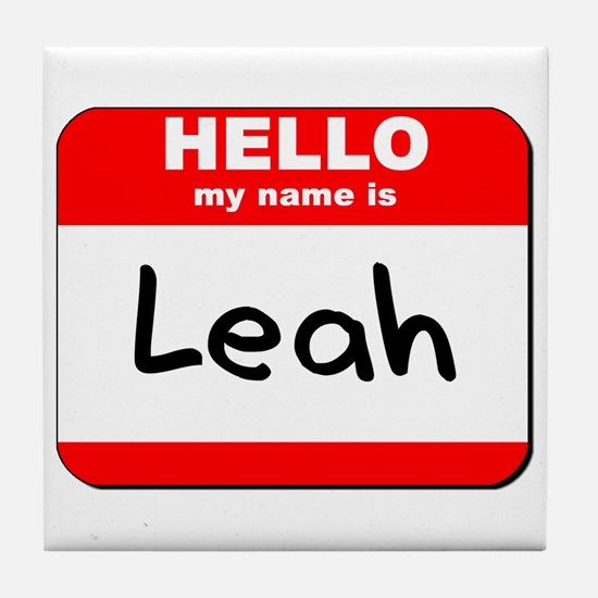 Hello my name is Leah Tile Coaster