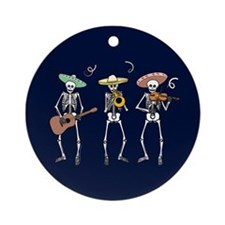 Mariachi Skeletons Ornament (Round)