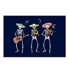 Mariachi Skeletons Postcards (Package of 8)
