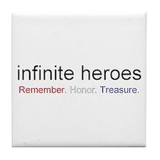 infinite heroes Tile Coaster