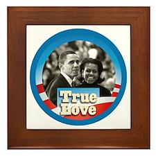 Obama True Love Framed Tile