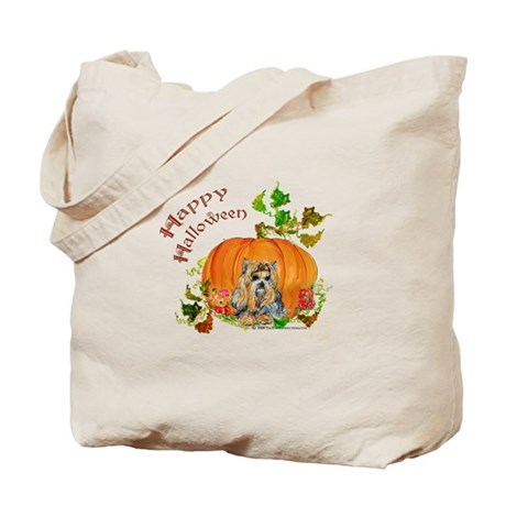 Pumpkin Yorkshire Terrier Tote Bag