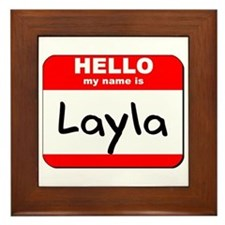 Hello my name is Layla Framed Tile