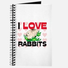 I Love Rabbits Journal