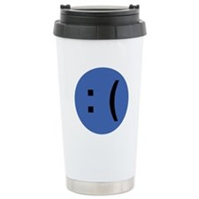 Sad Face Emoticon Travel Mug