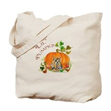 Pumpkin Yorkshire Terrier Tote Bag