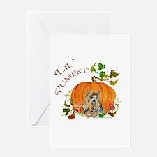 Pumpkin Yorkshire Terrier Greeting Card