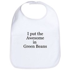 Awesome in Green Beans Bib