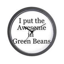 Awesome in Green Beans Wall Clock