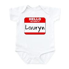 Hello my name is Lauryn Onesie
