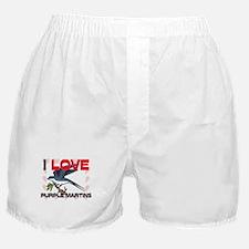 I Love Purple Martins Boxer Shorts