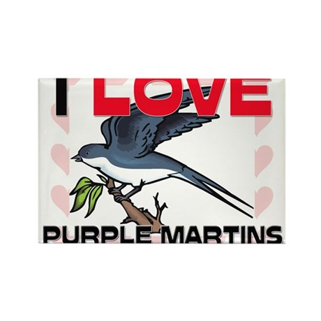 I Love Purple Martins Rectangle Magnet (10 pack)