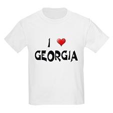 I LOVE GEORGIA Kids T-Shirt
