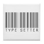 Type Setter Bar Code Tile Coaster