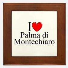 """I Love (Heart) Palma di Montechiaro"" Framed Tile"
