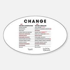 New Conservatism vs New Liberalism Oval Decal