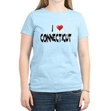 I LOVE CONNECTICUT Women's Pink T-Shirt