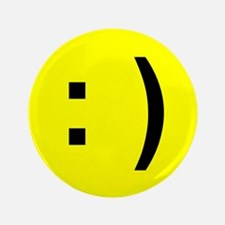 """Happy Face Emoticon 3.5"""" Button"""