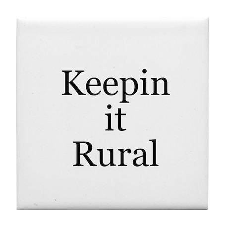 Keepin it Rural Tile Coaster