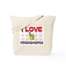 I Love Pronghorns Tote Bag