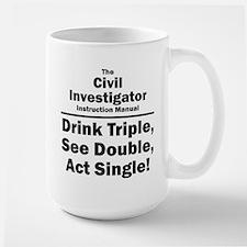 Civil Investigator Large Mug
