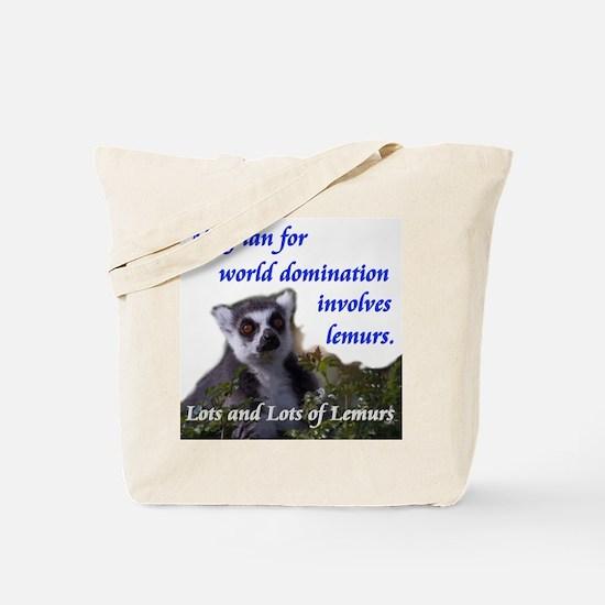 Domination Lemurs Tote Bag