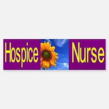 Hospice Nurse Bumper Car Car Sticker