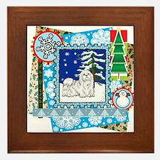 Scrapbook Maltese Christmas Framed Tile