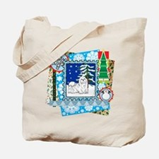 Scrapbook Maltese Christmas Tote Bag